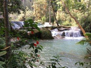 Tad Kuang Xi Wasserfall ohne Touristen © 2017