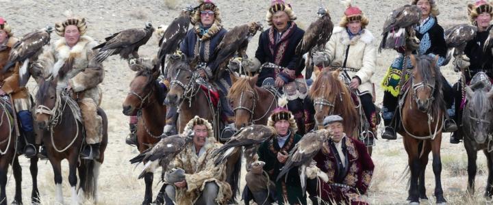 Die Jagd mit Greifvögeln ist in der Mongolei weit verbreitet. © 2018 (Burkhard Vorländer)
